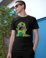 Grumpy Dino Classic T-Shirt apparel-classic-tshirt-lifestyle-17