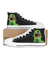 Grumpy Dino Men's High Top White Shoes thumbnail