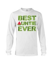Watermelon Day Auntie Long Sleeve Tee thumbnail