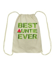 Watermelon Day Auntie Drawstring Bag thumbnail