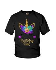 Unicorn Birthday Girl T-Shirt  Youth T-Shirt thumbnail