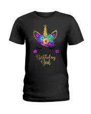 Unicorn Birthday Girl T-Shirt  Ladies T-Shirt thumbnail