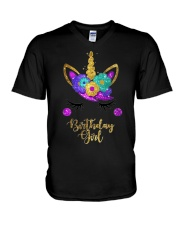 Unicorn Birthday Girl T-Shirt  V-Neck T-Shirt thumbnail