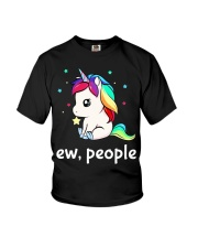 Ew People Unicorn Shirt Youth T-Shirt tile