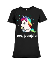 Ew People Unicorn Shirt Premium Fit Ladies Tee tile