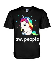 Ew People Unicorn Shirt V-Neck T-Shirt thumbnail