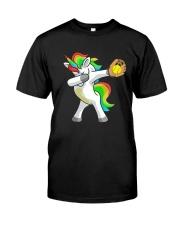 Dabbing Unicorn Softball T-Shirt  Premium Fit Mens Tee front