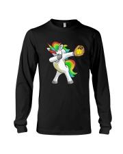 Dabbing Unicorn Softball T-Shirt  Long Sleeve Tee thumbnail