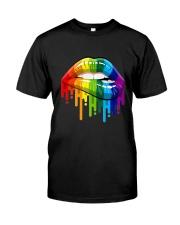 Lgbt Gay Homosexual Lesbian Rainbow Lips T-Shirt Classic T-Shirt thumbnail