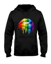 Lgbt Gay Homosexual Lesbian Rainbow Lips T-Shirt Hooded Sweatshirt thumbnail