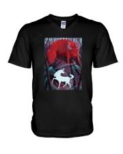 The-Unicorn-And-The-Bull-T-Shirt V-Neck T-Shirt thumbnail