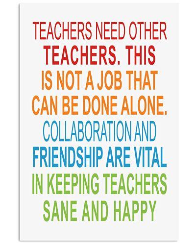 TEACHERS NEED OTHER TEACHERS