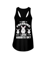 Bunny Rabbit Lover Freaking Love Rabbits Funny shi Ladies Flowy Tank thumbnail