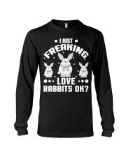 Bunny Rabbit Lover Freaking Love Rabbits Funny shi Long Sleeve Tee thumbnail