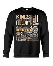 Kings Are Born In February Crewneck Sweatshirt thumbnail