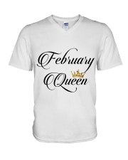 February Queen V-Neck T-Shirt thumbnail