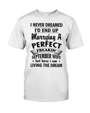 Perfect Freakin' September Wife Classic T-Shirt thumbnail