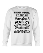 Perfect Freakin' September Wife Crewneck Sweatshirt tile