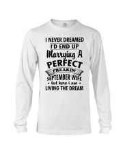 Perfect Freakin' September Wife Long Sleeve Tee thumbnail