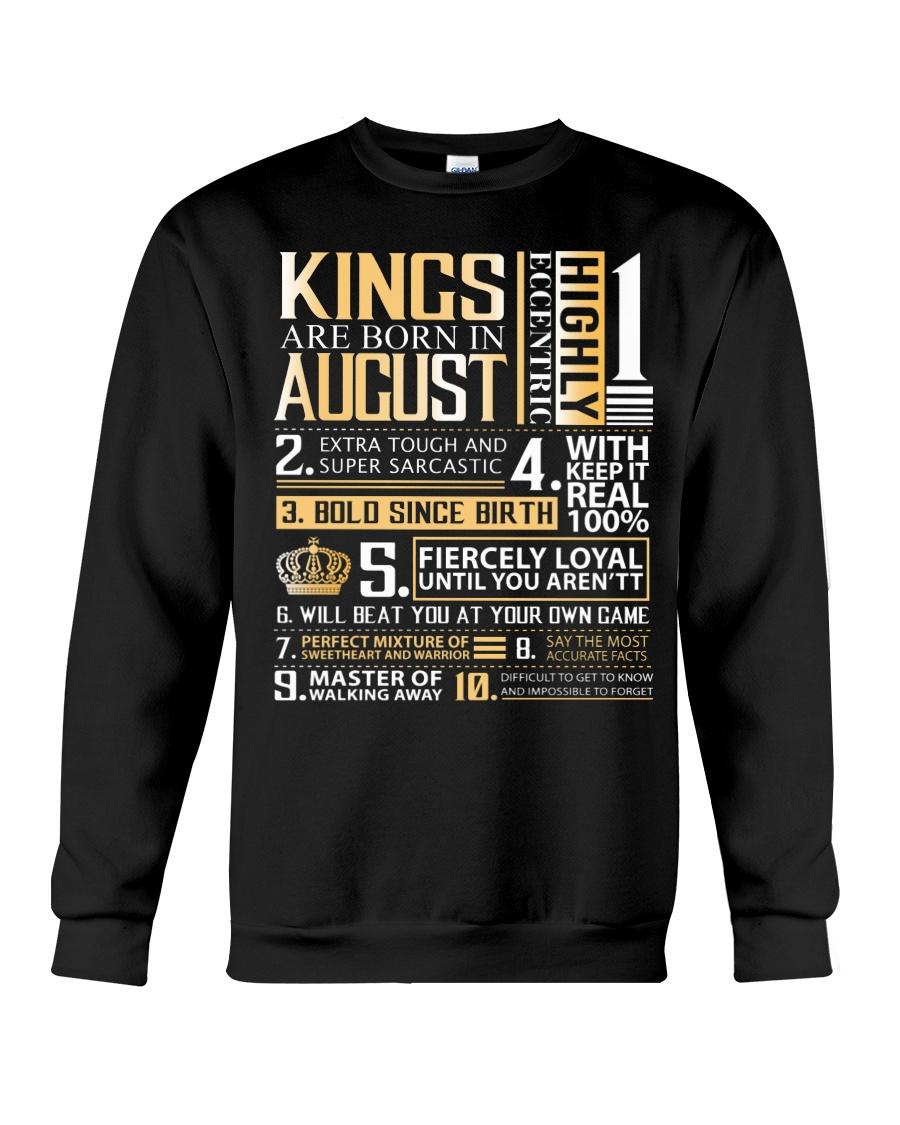 Kings Are Born In August Crewneck Sweatshirt