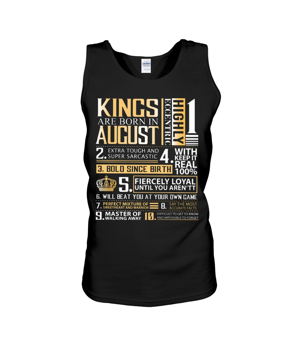 Kings Are Born In August Unisex Tank