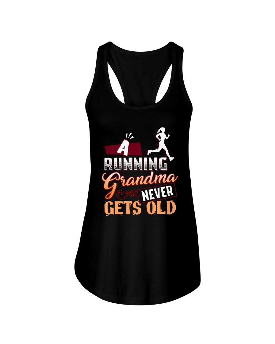 A Running Grandma Never Gets Old Ladies Flowy Tank
