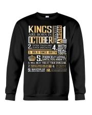 Kings Are Born In October Crewneck Sweatshirt thumbnail