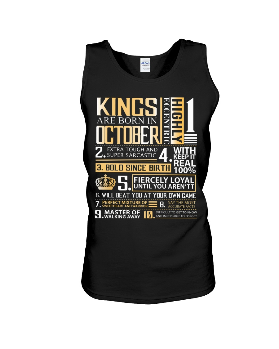 Kings Are Born In October Unisex Tank