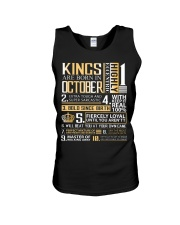 Kings Are Born In October Unisex Tank thumbnail