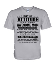 My Freakin' Awesome Mom V-Neck T-Shirt thumbnail