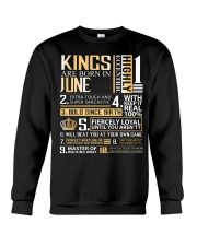 Kings Are Born In June Crewneck Sweatshirt thumbnail