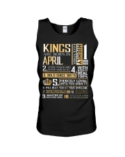 Kings Are Born In April  Unisex Tank tile