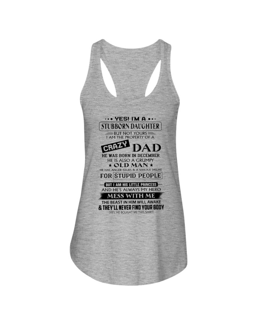 Stubborn Daughter - Crazy Dad - Limited Edition Ladies Flowy Tank