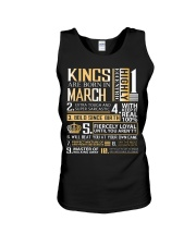 Kings Are Born In  March Unisex Tank thumbnail