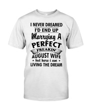 Perfect Freakin' August Wife Classic T-Shirt thumbnail