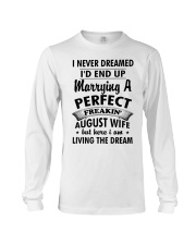 Perfect Freakin' August Wife Long Sleeve Tee thumbnail
