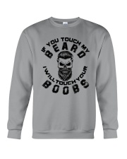 If You Touch My Beard Crewneck Sweatshirt thumbnail