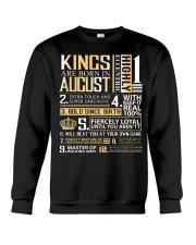Kings Are Born In August  Crewneck Sweatshirt thumbnail