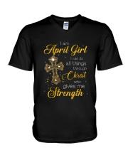 April Girl V-Neck T-Shirt thumbnail