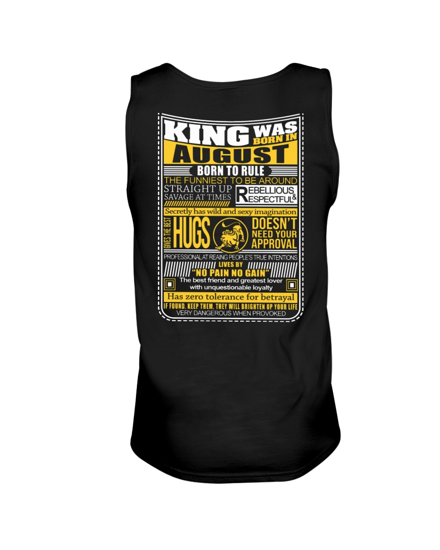 August  King - Limited Edition Unisex Tank