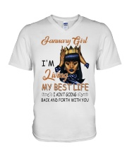 January Girl V-Neck T-Shirt thumbnail