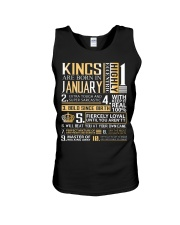 Kings Are Born In January  Unisex Tank thumbnail