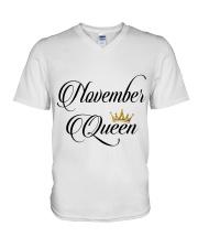 November Queen V-Neck T-Shirt thumbnail