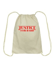 Justice For Barb Drawstring Bag thumbnail