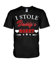 I Stole Daddy's Heart V-Neck T-Shirt thumbnail