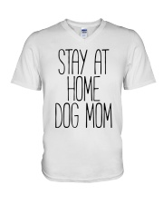 STAY AT HOME DOG MOM V-Neck T-Shirt thumbnail
