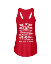 MY WIFE IS THE MOST GORGEOUS AND AMAZING WOMAN Ladies Flowy Tank front