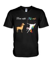 YOUR WIFE MY WIFE V-Neck T-Shirt thumbnail
