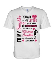 TO MY DAUGHTER YOU'RE LOVED V-Neck T-Shirt thumbnail