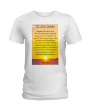 TO MY MOTHER Ladies T-Shirt thumbnail